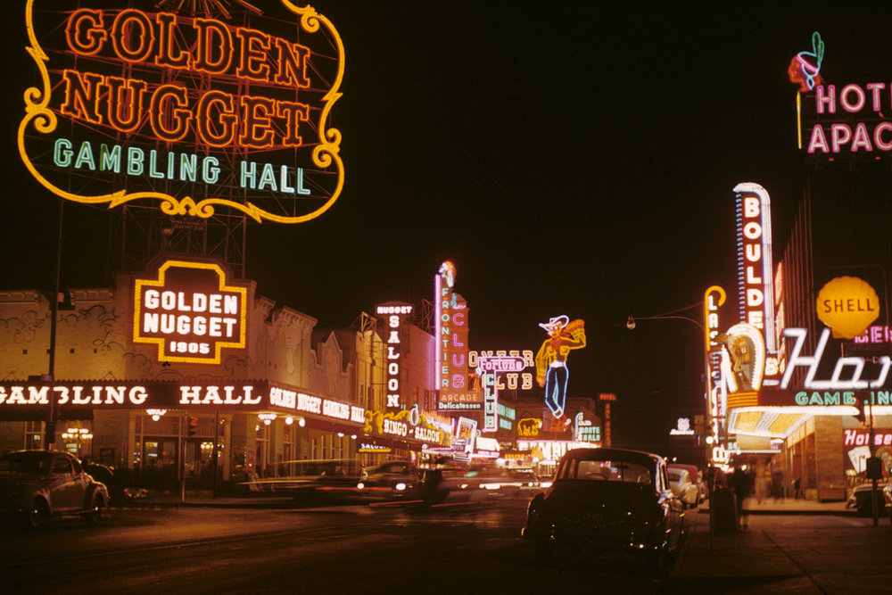 The Golden Nugget was once a Vegas hotspot, as this photo from 1952 attests