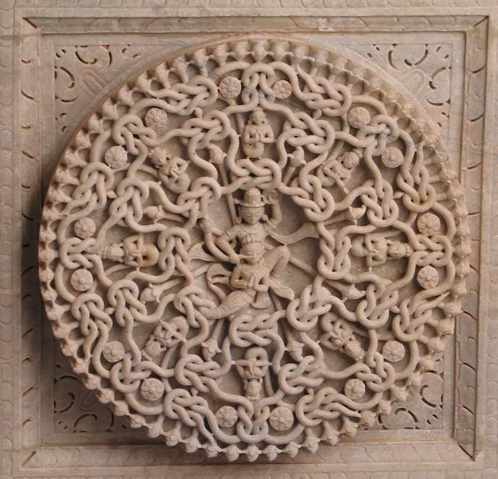 We are all connected, as this detail from a Jain temple in Rajasthan, India shows