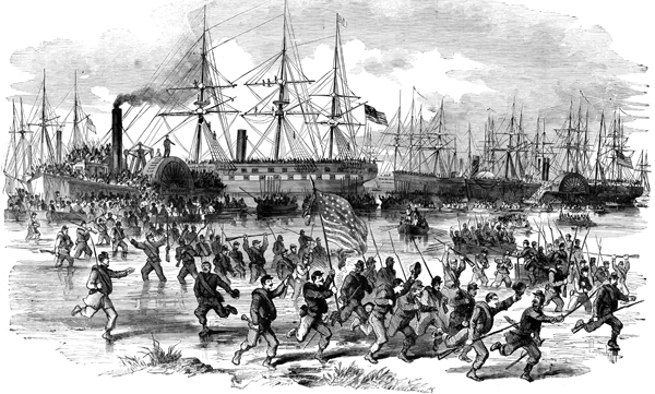 Union troops quickly took over Hilton Head Island from the Confederacy during the Battle of Port Royal