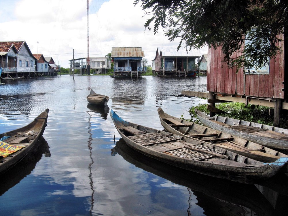 The floating village of Kompong Kleang, outside of Siem Reap, Cambodia