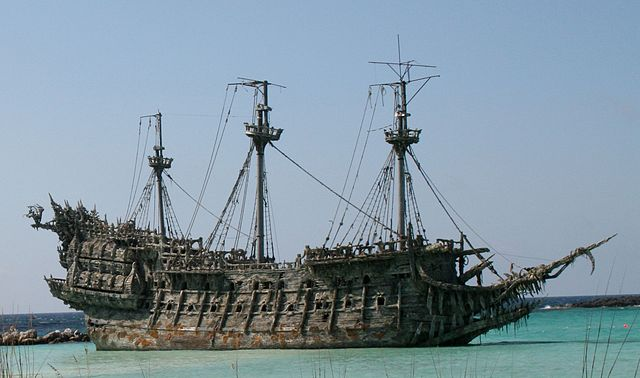 The Flying Dutchman, as seen in the Pirates of the Caribbean movies