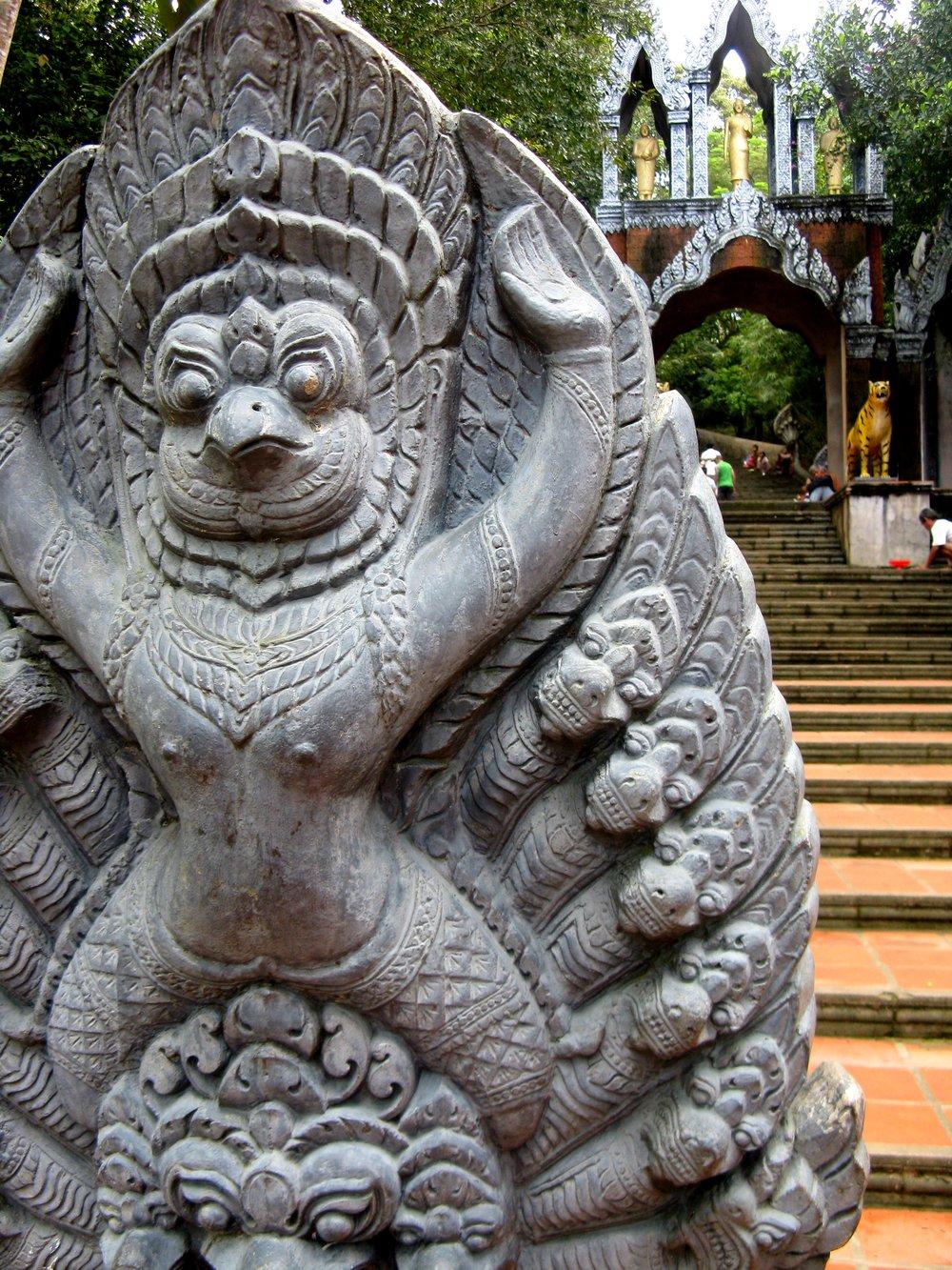 Garuda protected by nagas