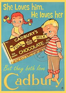 A vintage ad for Cadbury chocolate