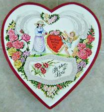 One of the first heart-shaped box of chocolates
