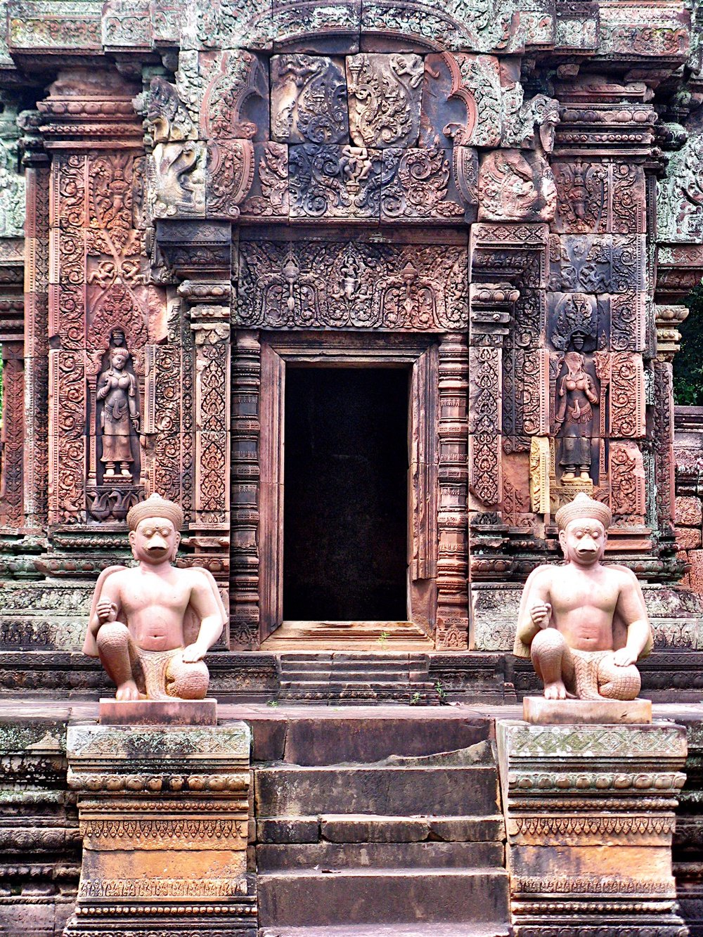 The temple was built to honor the Hindu god of destruction, Shiva
