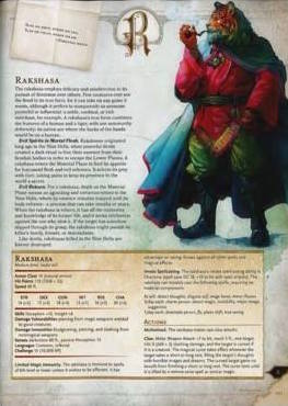 The rakshasa page from the AD&D  Monster Manual