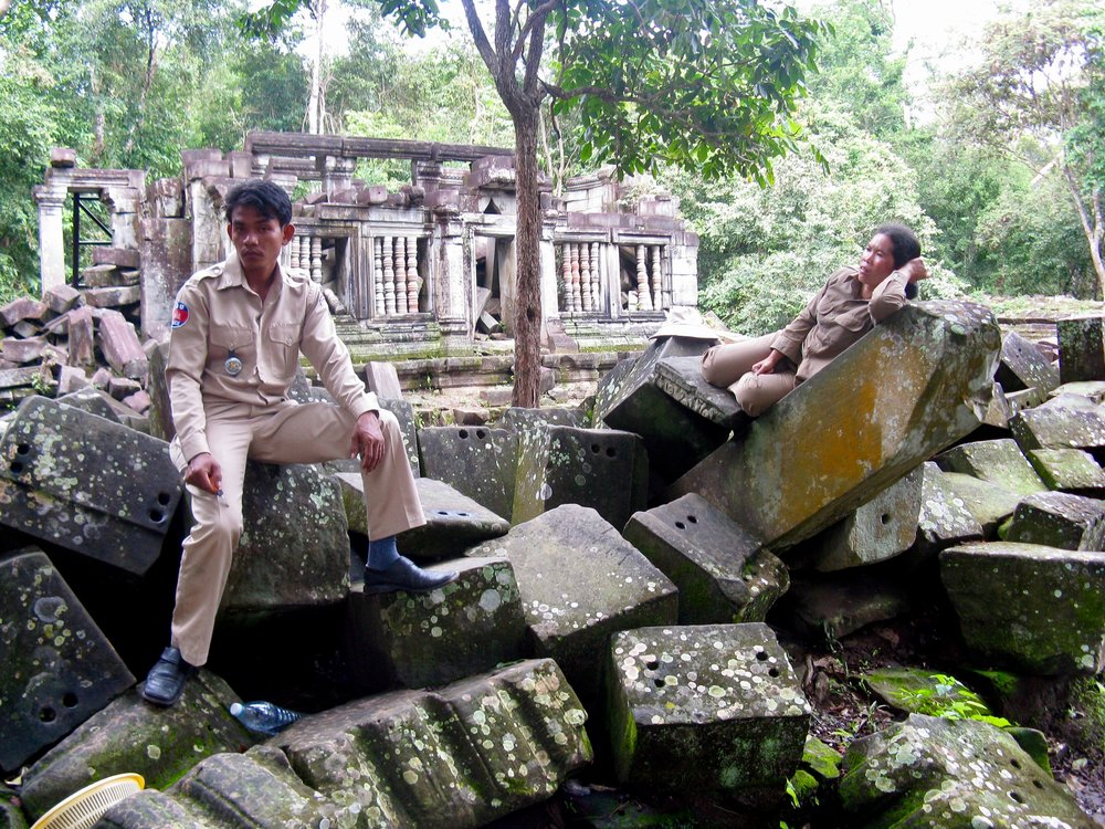 There are worse jobs than guarding Beng Mealea