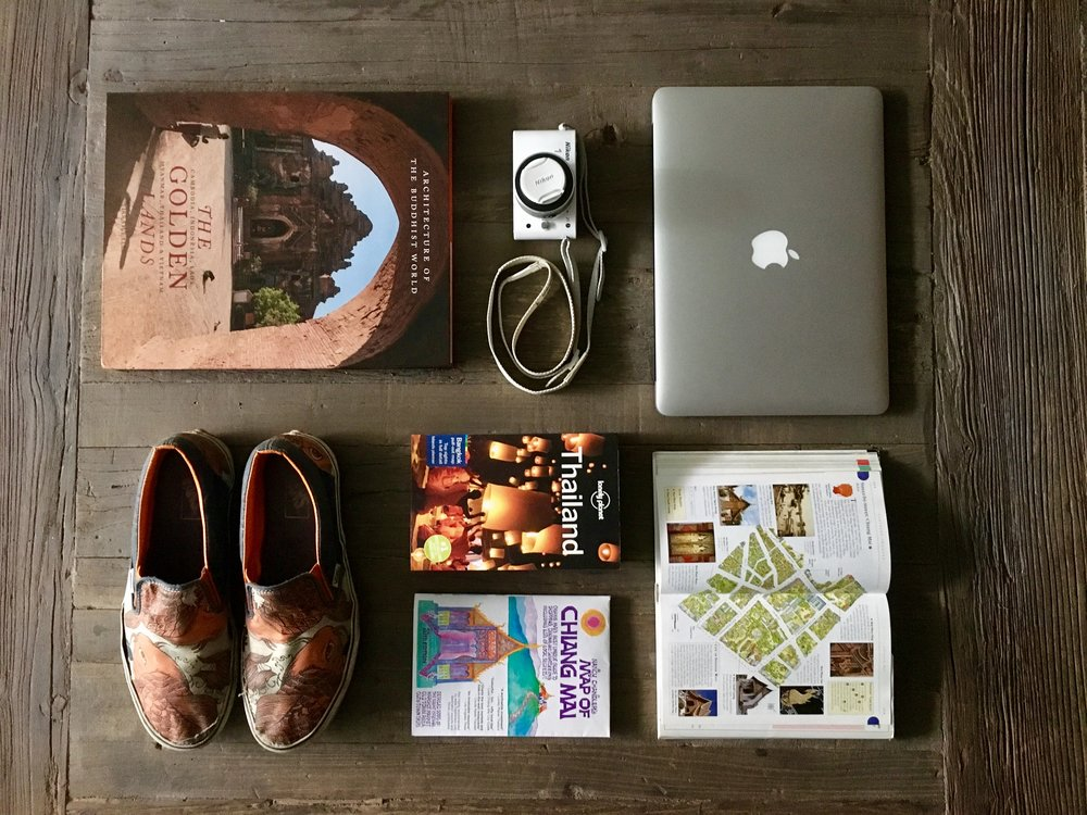 Travel guides, maps, blogs and photo books are all part of our travel planning process