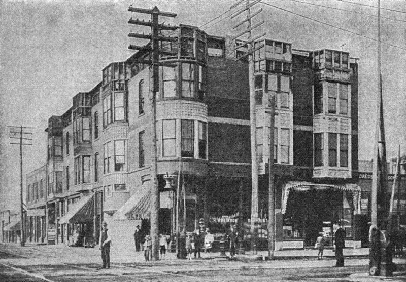 A rare image of Holmes' Murder Castle, a boarding house for single women on Chicago's South Side — quite close to the Columbian Exhibition