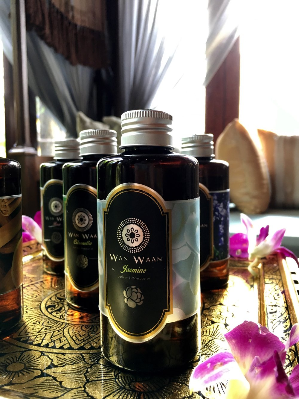 The Wan Waan essential oil-based products the spa uses are available for purchase
