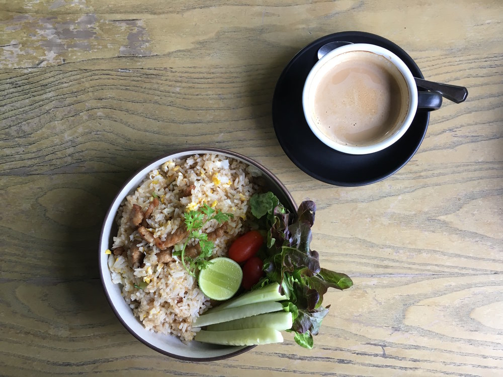 You can get a rice dish for breakfast — or eggs, if you prefer