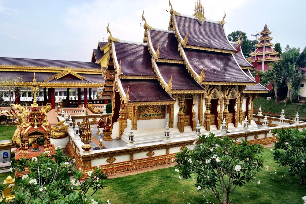 The storybook viharn at Wat Sang Kaew in Chiang Rai, Thailand