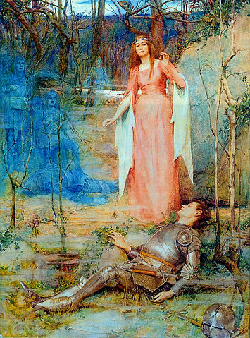 La Belle Dame Sans Merci, or The Banshee  by Henry Meynell Rheam, 1901