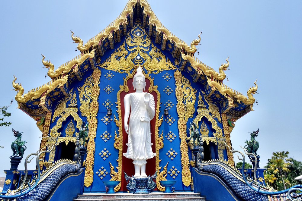This newer temple can be paired with a day trip to the White Temple and Black House Museum, as well as the over-the-top Wat Sang Kaew