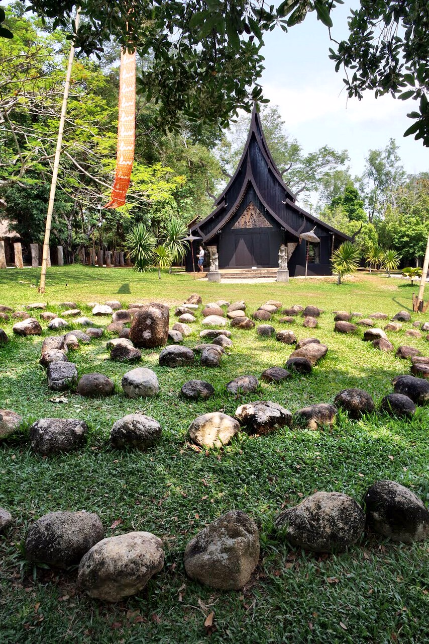 You could imagine pagan rituals taking place in front of the Xieng Thong House
