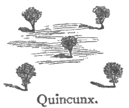 A quincunx symbol can connect a spell to a place and make it stronger