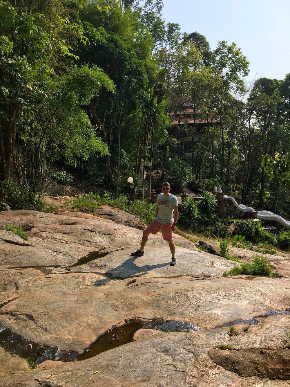 When we visited, the waterfall at Wat Palad was almost entirely dried up
