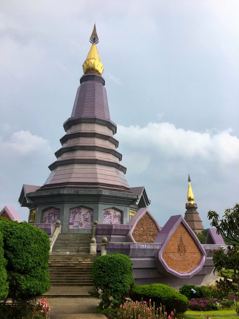 No trip to Doi Inthanon National Park is complete without visiting the modern King and Queen Pagodas atop the mountain