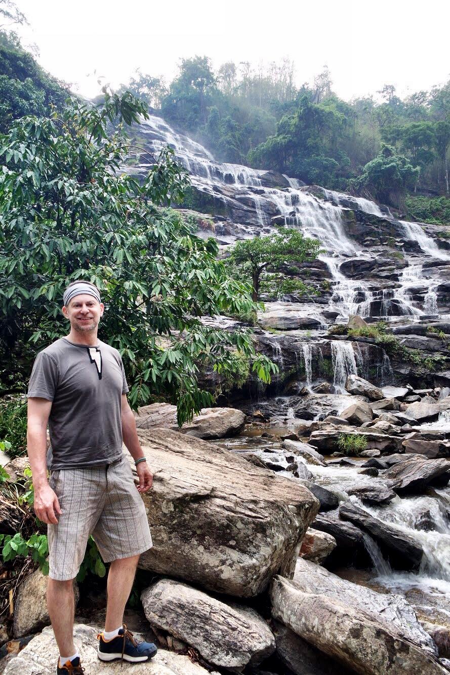 Duke at Mae Ya Waterfall