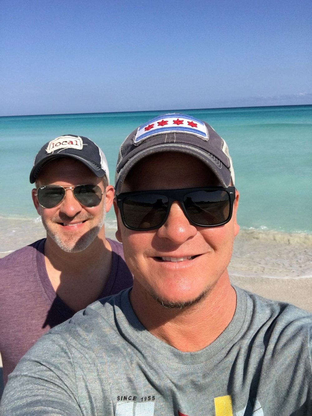 Life's a beach for Scott and Joe