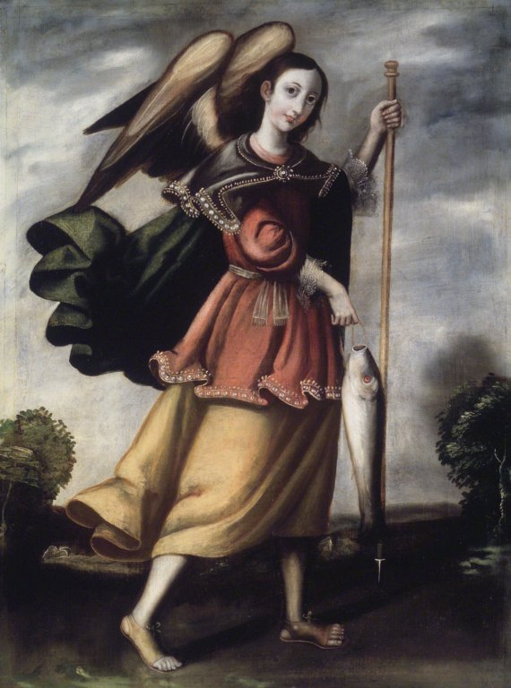 Angels, like Raphael, aren't typically depicted in artwork as badass and intimidating like the Bible describes them