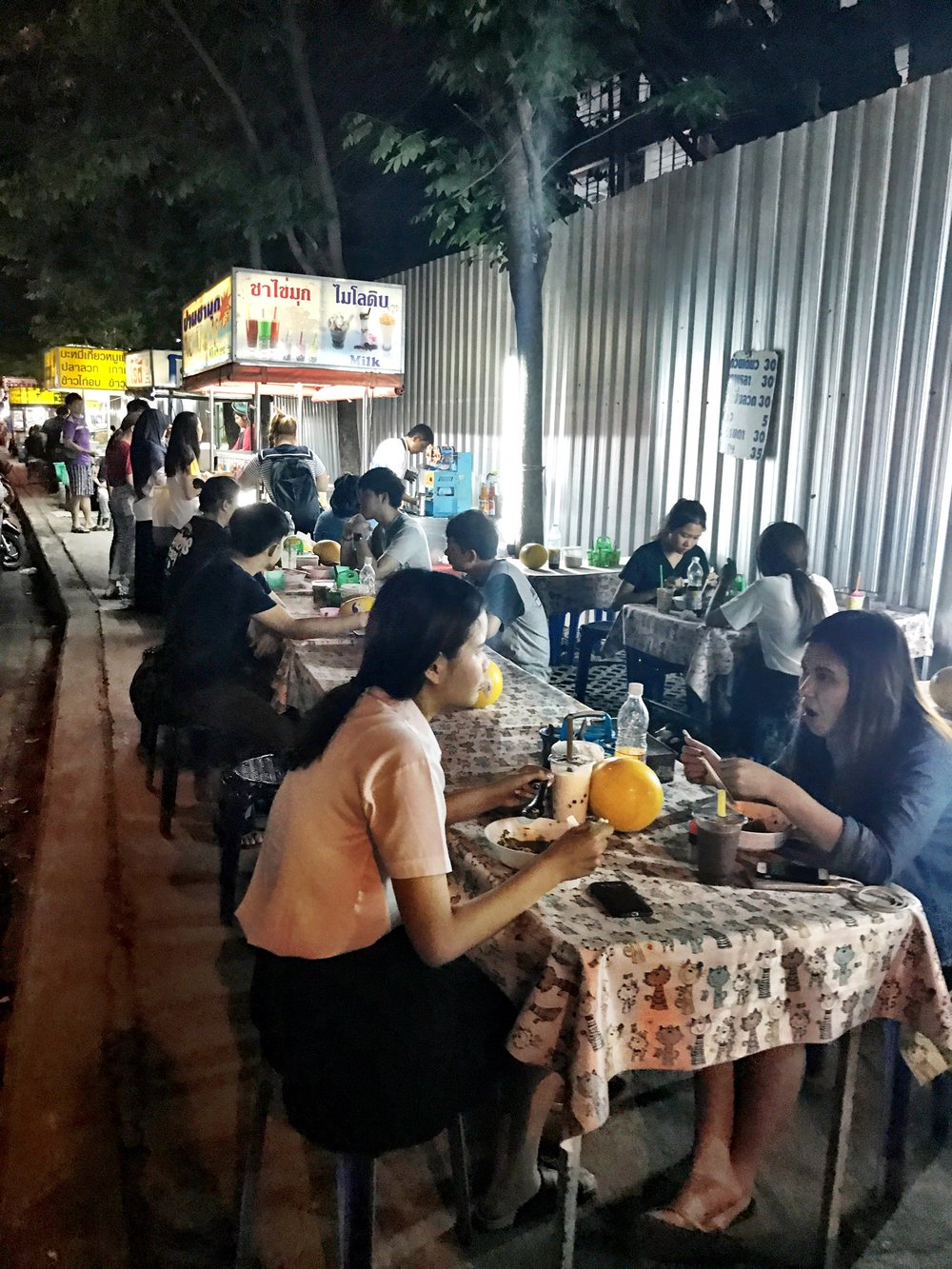 The street food found on Suthep Road by Chiang Mai University is no frills — but tasty