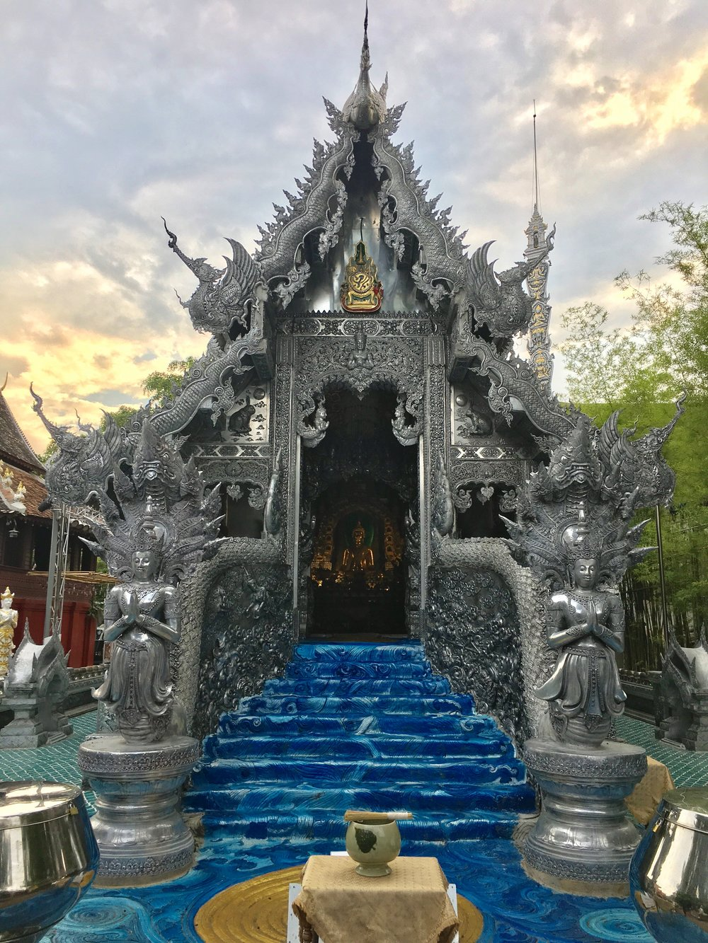 The pressed silver artistry of Wat Sri Suphan made it one of our favorite temples to explore in Chiang Mai