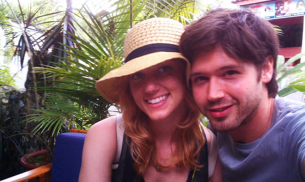 Allison and Zach in Manuel Antonio National Park, one of their favorite spots in Costa Rica