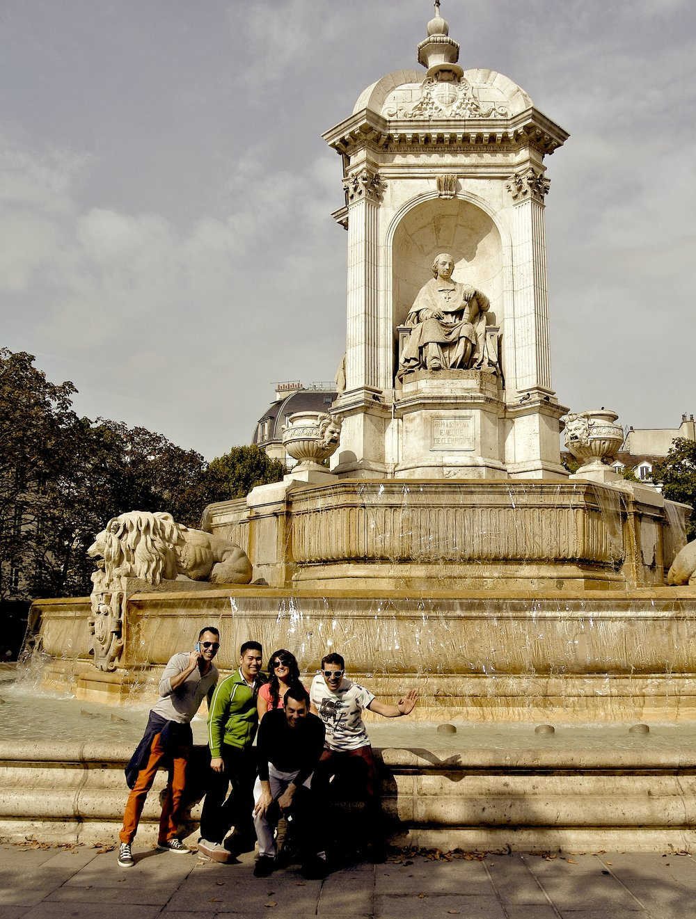The fountain was built by Louis Visconti in the mid-1800s