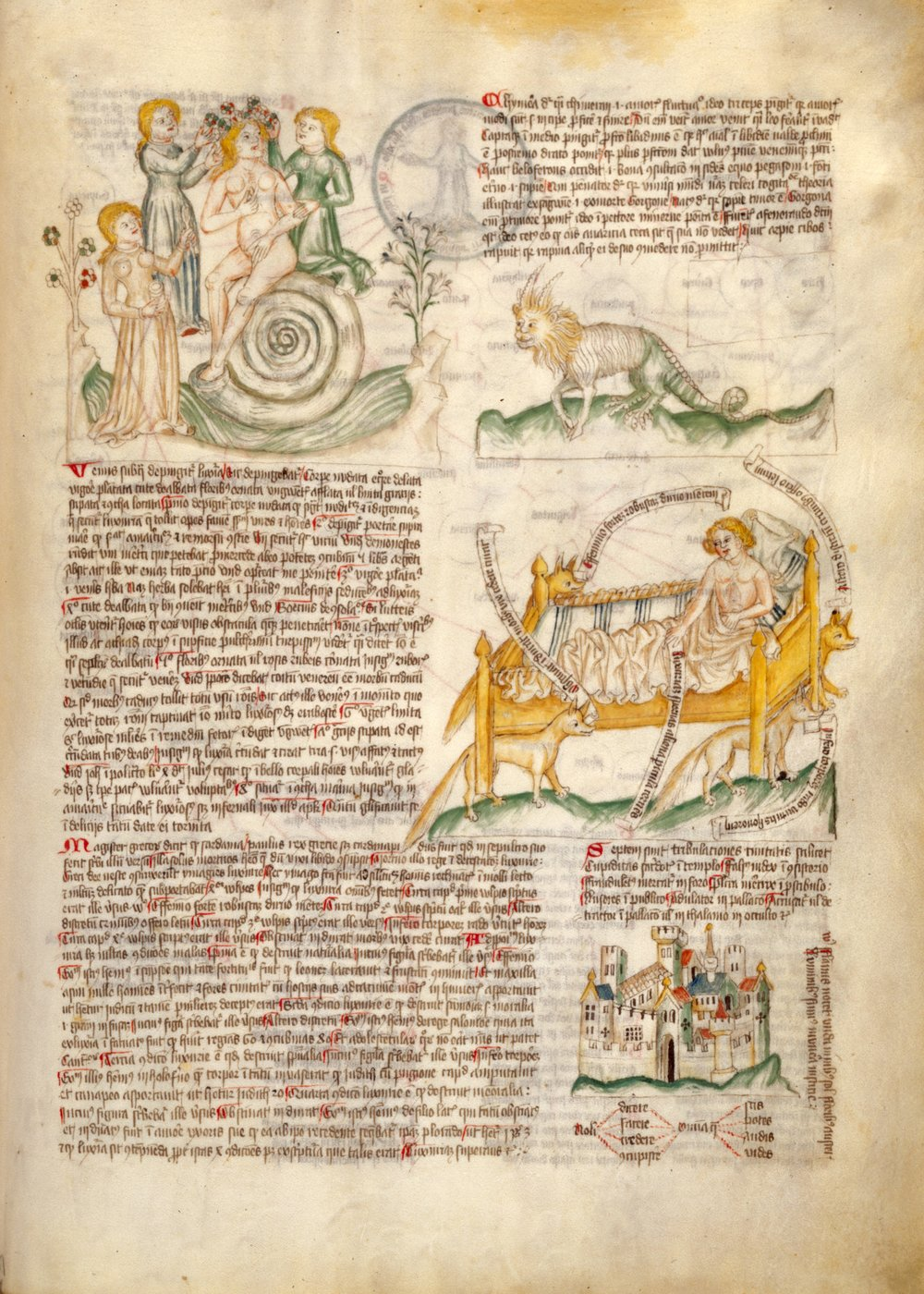 This page shows the personification of lechery