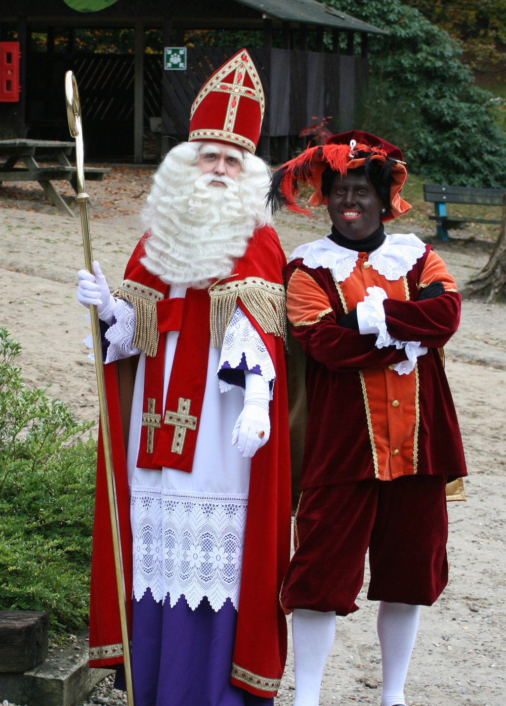 The Dutch version of Santa Claus has a helper named Zwarte Piet, or Black Peter