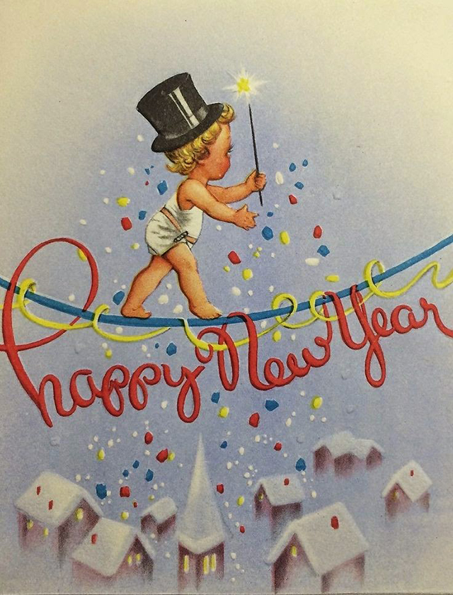 vintage new years greetings