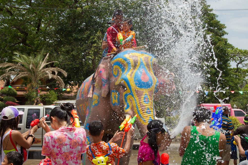 The spring festival of Songkran marks the Thai New Year