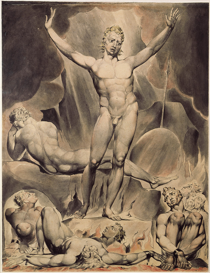 Lucifer arouses other fallen angels in this Paradise Lost illustration by William Blake