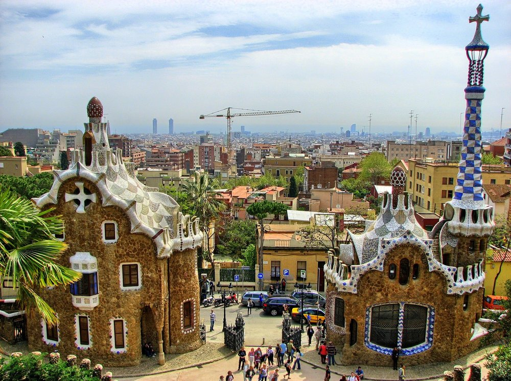 The whimsical Park Guëll in Barcelona is just one stop on an  Origin -inspired itinerary of Spanish sights
