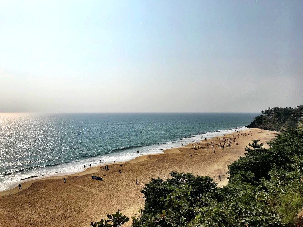 Varkala has a similar beachy, hippie vibe as Kovalam but skews younger