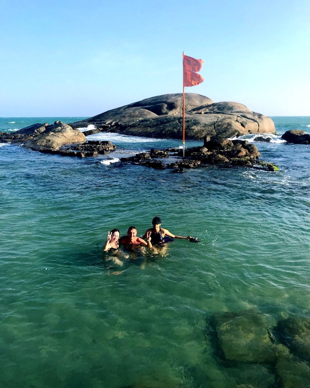 Three bodies of water converge at Kanyakumari, and local lore has it that you can wash away your sins by swimming here