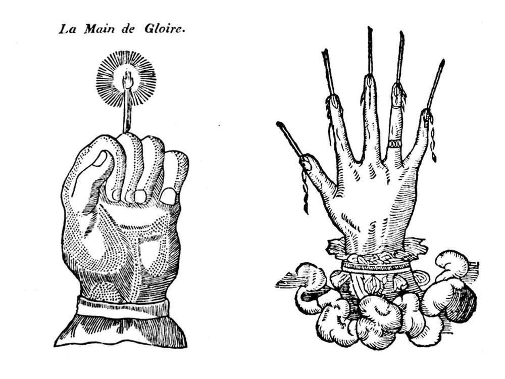 A Hand of Glory is a great magical item — especially if you're a thief