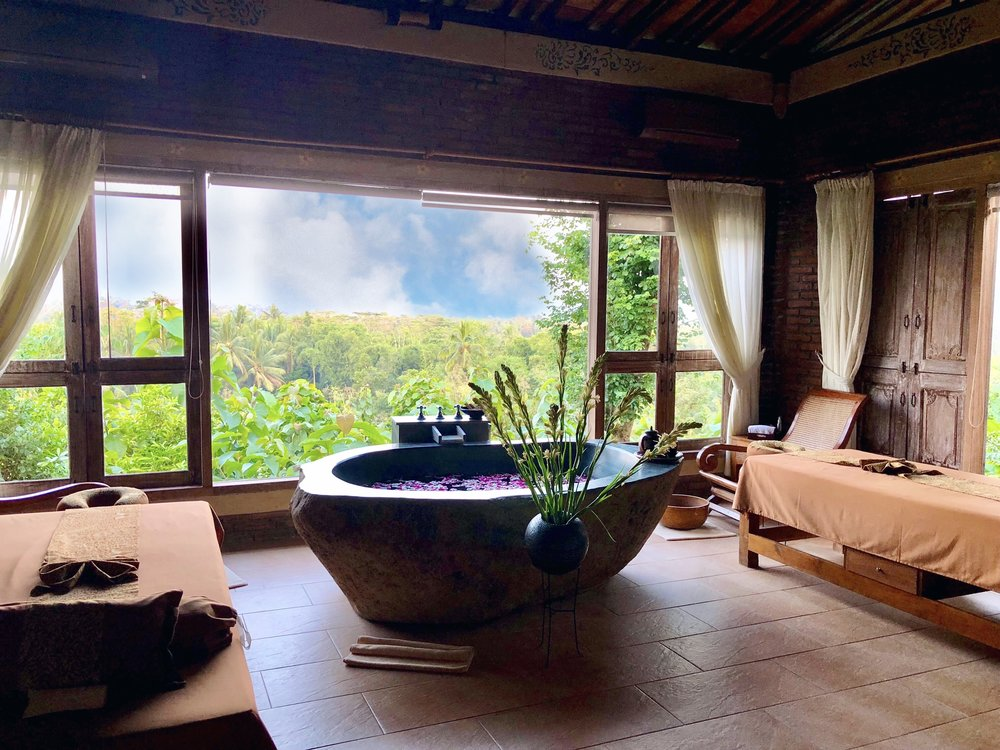Our treatment room overlooked the jungle-covered mountain