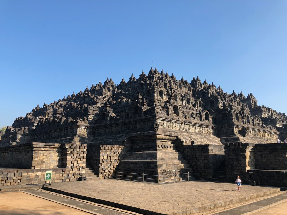 Borobudur, with its nine levels, was carved from the top down. In fact, parts of the base were never completed