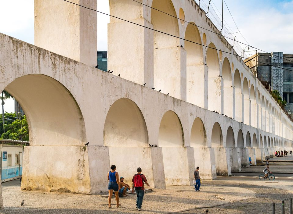 The Lapa neighborhood is known for its aqueduct — and boho vibe
