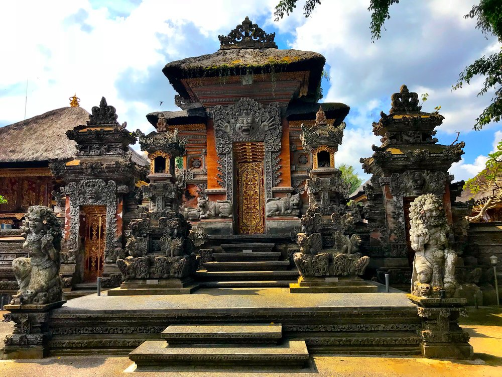 The Pura Dalem lies on the outskirts of Ubud