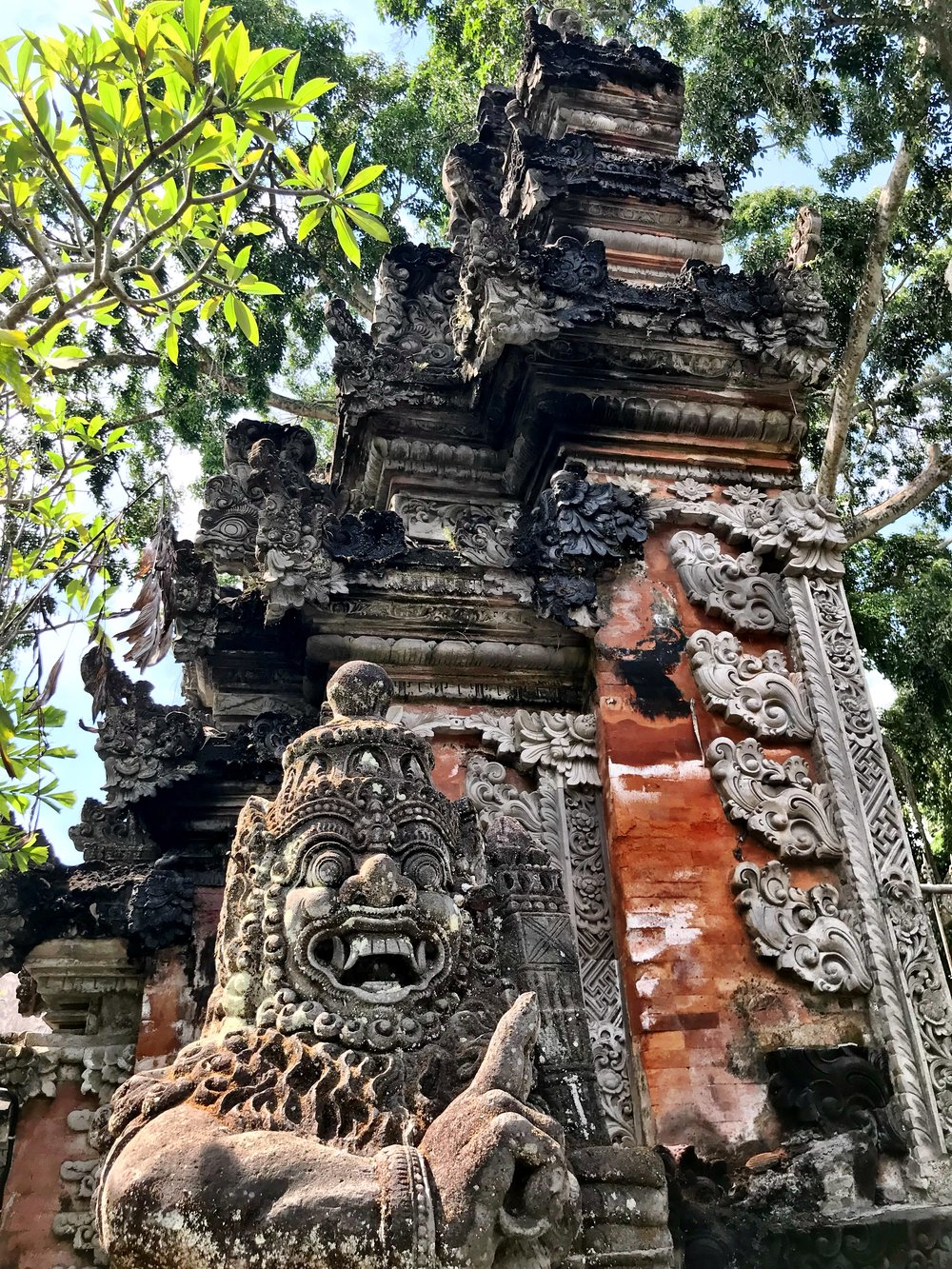 Lichen covers Balinese temples, lending an ancient air to even the newer ones