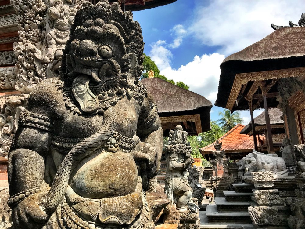Balinese temples are composed of numerous open-air shrines