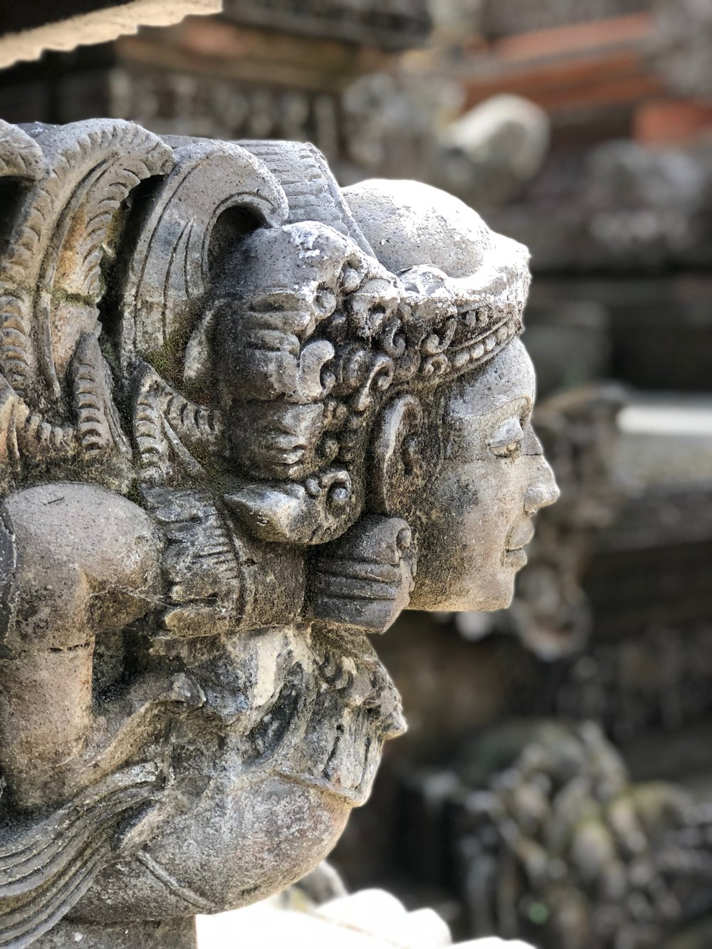 This was pretty much the only statue at the Pura Dalem Ubud that wasn't monstrous
