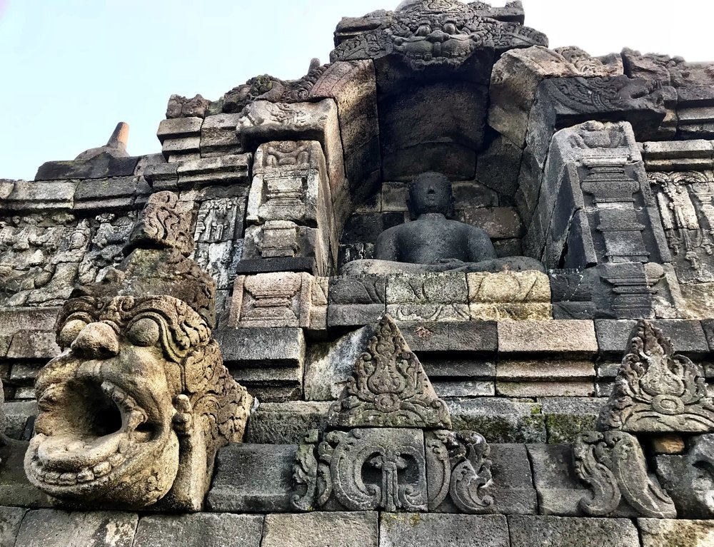 The builders of Borobudur recognized the need for a drainage system because of heavy rains that cause erosion