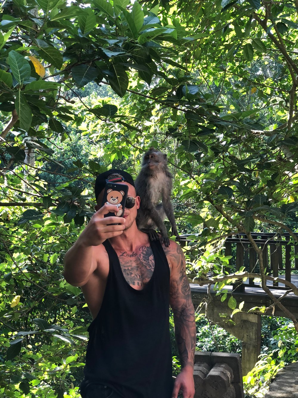 As cool as it might be to get a selfie with a monkey, we can't advise it