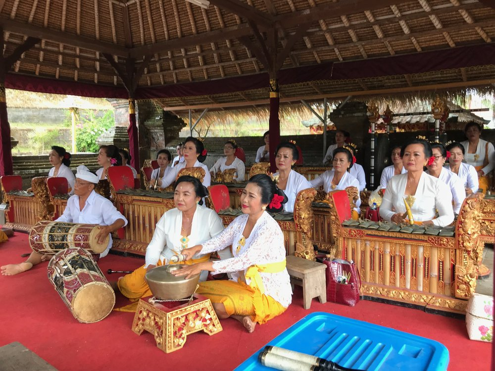 An all-female gamelan band