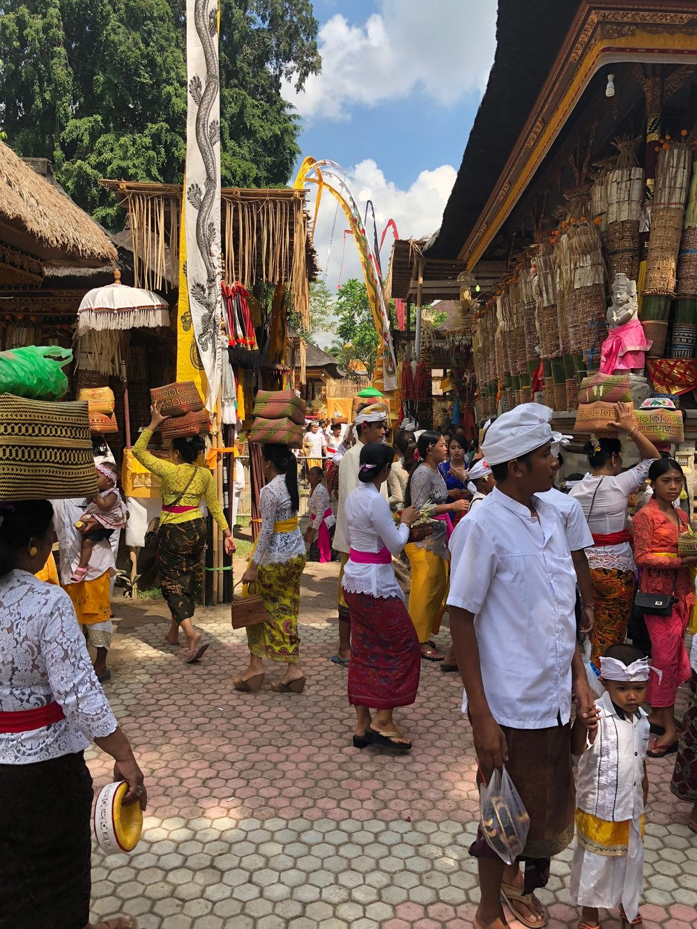 The vast, bustling temple complex evokes the feel of a village market