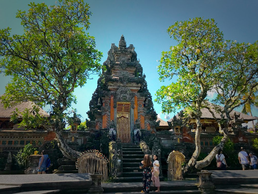 The temple is dedicated to the Hindu goddess Saraswati, patroness of learning and the arts